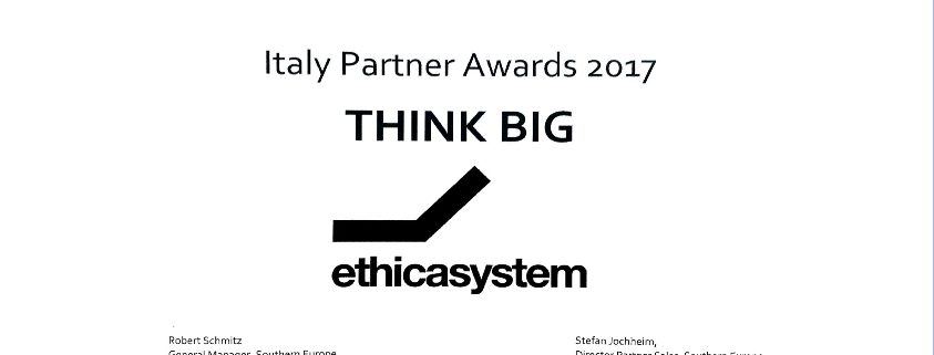 Premio Qlil Italy Partner Award 2017 ad Ethica System